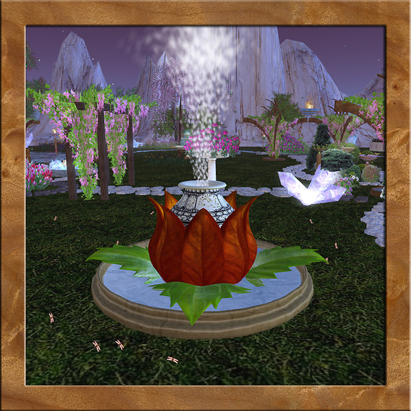 Lgc lotus fountain by leasupermarine second life on koinup for Lotus garden meditation center