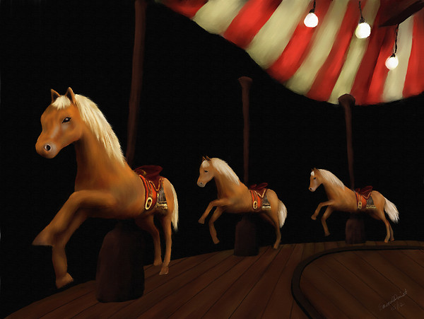 Carousel Horses Final blog Emerald