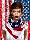 American Flag Kefiah
