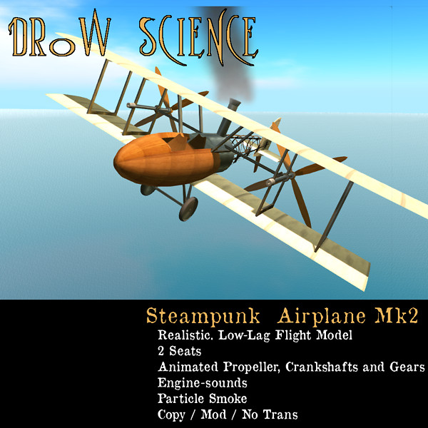 Steampunk Airplane Mk2 3
