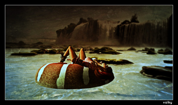 Rafting in a donut
