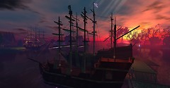 the fleet in Winterfell Eventide at Dawn