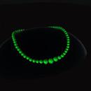 QT Bakelite bead choker - green