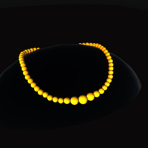 QT Bakelite bead choker - gold