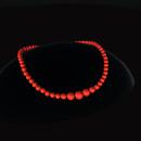 QT Bakelite bead choker - Red