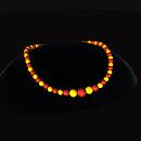QT Bakelite Bead choker - Gold & Red