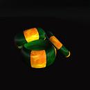 QT Swirl Bangle Set, Gold & Green