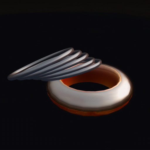 QT Metallic Swirl Orange & Black set