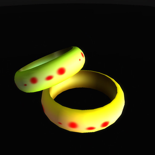 QT Red spot simple bangles set