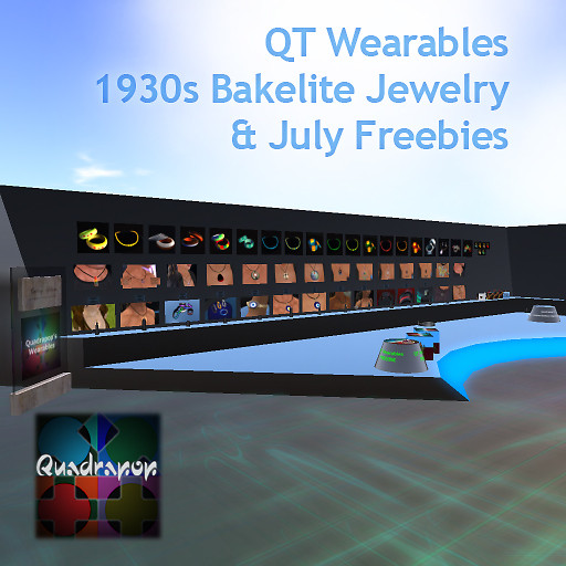 QT wearables with 1930s jewelry copy