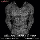 Military Sweater I: Grey (V2) - POP Slides
