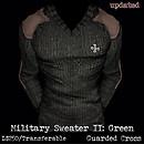 Military Sweater II: Green (V2) - POP Slides