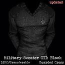 Military Sweater III: Black (V2) - POP Slides