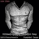 Military Sweater IV: Light Grey - POP Slides