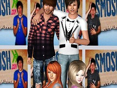 Ian, Anthony, Loreen(my sim) and Apple