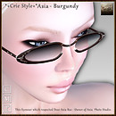*+Crie Style+* Asia - Burgundy