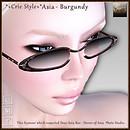 *+Crie Style+* Asia - Burgundy