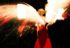 angel turned away