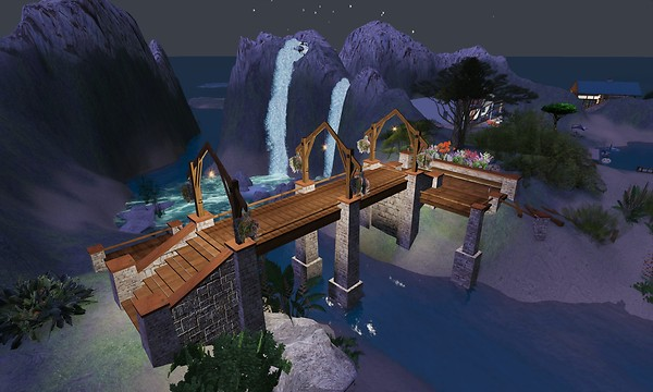 out random exploring, a bridge at night in light alright - torley.olmstead
