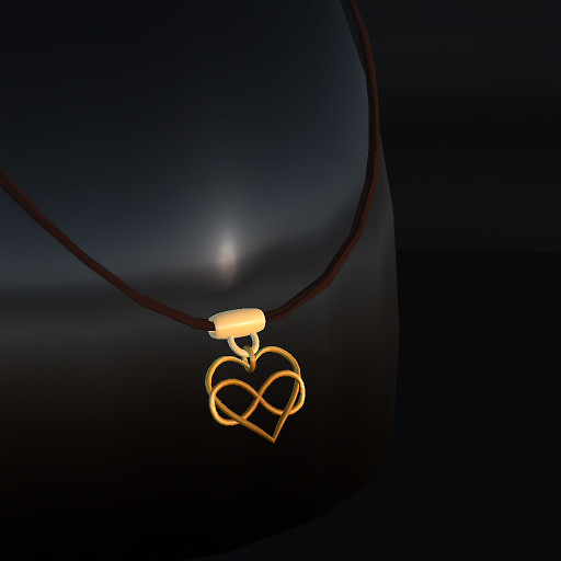 QT Gold infinite Love pendant vendor image