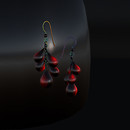 QT Blood droplet earrings vendor image