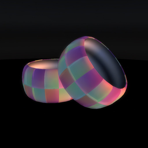 QT double checker bangle rainbow vendor image