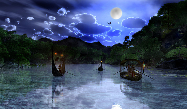 Moonlight River Journey