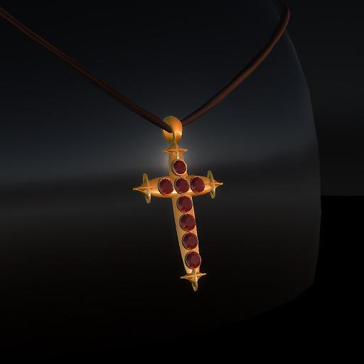 QT Red & Gold Blood Cross Gold