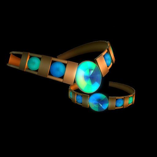 QT Blue Glimmer Torc & Bangle vendor image