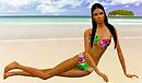 Adriana Lima beach