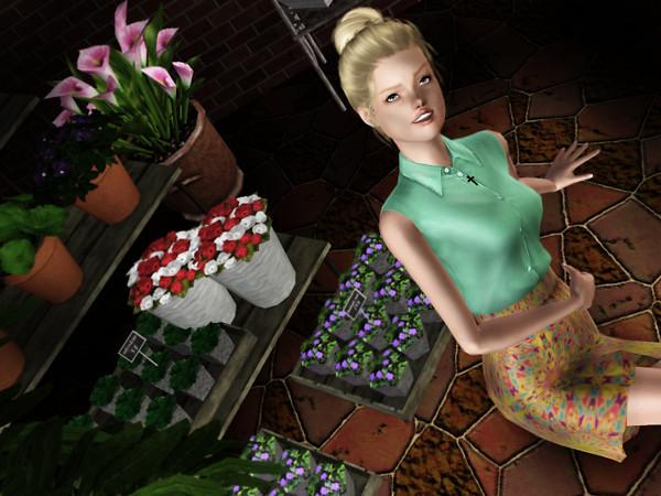 La fille du marchand de fleur.
