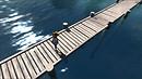 Beyond the long wooden bridge