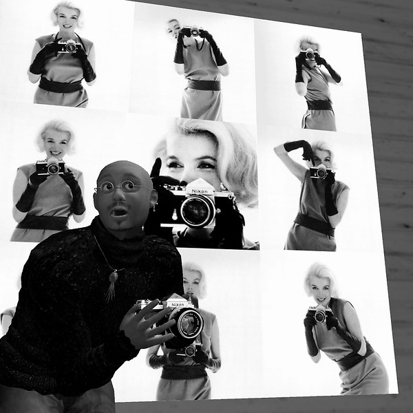 Marilyn and Me with a Nikon F