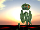 glyph avatar sunset