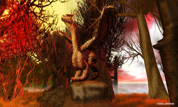 Dragon of autumn dawn