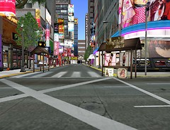 A very urban Second Life shopping center