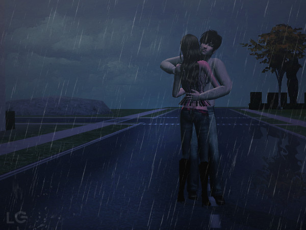 Out on your corner in the pouring rain
