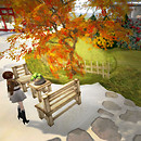 Autumn garden in Toyota sim