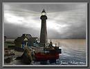 fogbound blues lighthouse