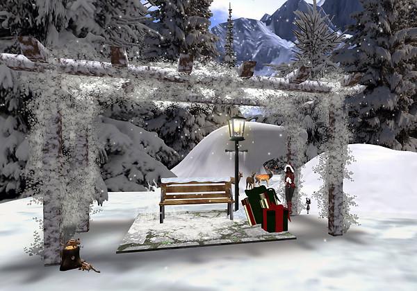 Pacifique's Winter Wonderland 2012 - gazebo