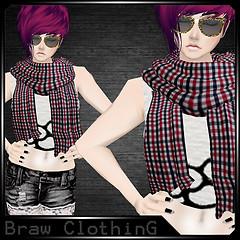 [B] Scarf Loyz Red/Black