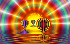 Balloons at Sunset_