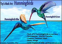 SL Mesh Hummingbirds (Green & Blue)