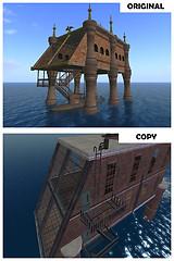 Stolen dock house