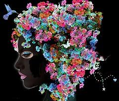 Abstract Fractal Art - Flowers Bouquet