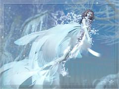 Mermaid in the winter garden