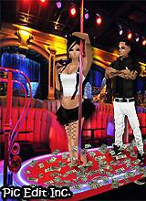 in the strip club