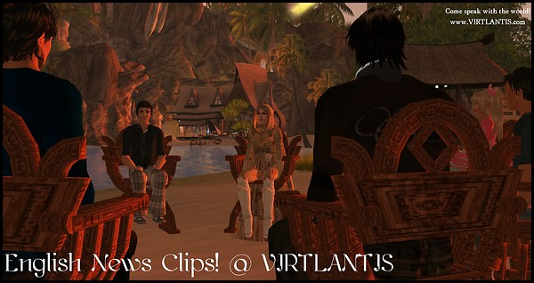 English News Clips! @ VIRTLANTIS (Paradise Island)