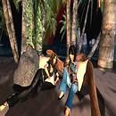Sivia e Mitla presso il fuoco sulla spiaggia di Aquarius, Magnolia Glen (36, 73, 22) - Mature