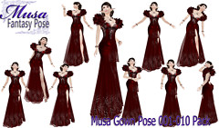 !Musa! Gown Pose001-010 pack
